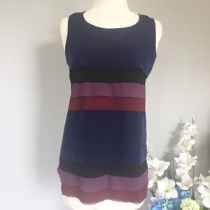 ANN TAYLOR tiered tank top